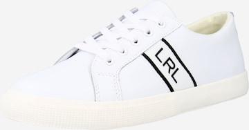 Sneaker low 'JANSON II' de la Lauren Ralph Lauren pe alb