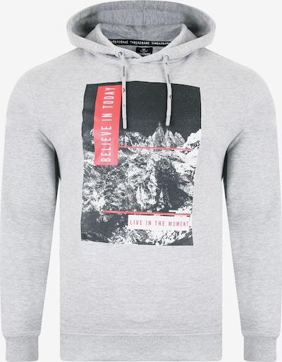 Threadbare Sweatshirt 'Ezra' in grau / rot / schwarz / weiß, Produktansicht