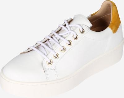 JUTELAUNE Sneaker in goldgelb / weiß, Produktansicht