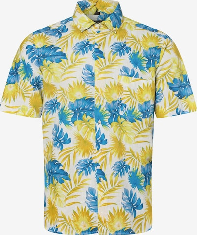Nils Sundström Hemd in blau / gelb / weiß, Produktansicht
