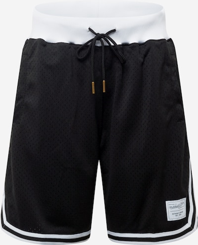 Mitchell & Ness Trousers in Black / White, Item view
