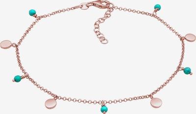 ELLI Fußschmuck Geo, Perle in türkis / rosegold, Produktansicht