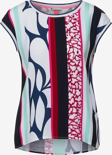 Tricou STREET ONE pe bleumarin / verde mentă / roz / roșu / alb amestacat, Vizualizare produs