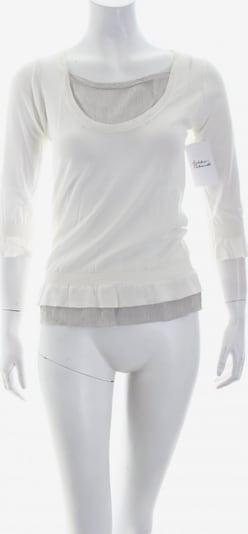 Roberto Collina Rundhalspullover in XS in grau / weiß, Produktansicht
