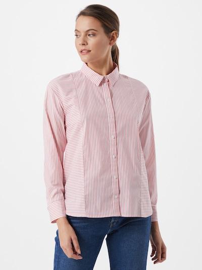 Bluză TOM TAILOR pe roșu pastel / alb, Vizualizare model
