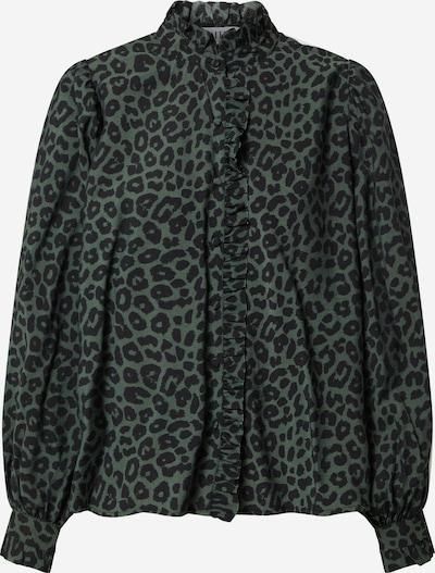 EDITED Blusa 'Rosiel' en verde oscuro / negro, Vista del producto