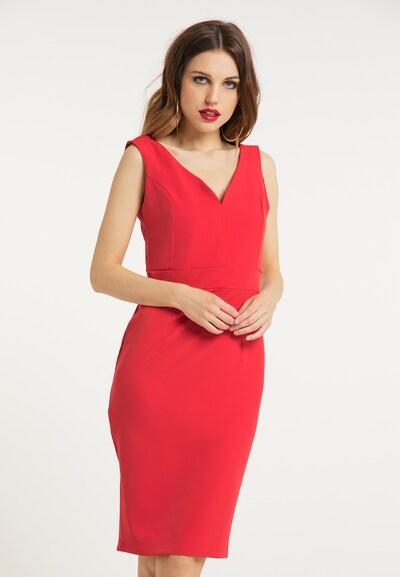 faina Etuikleid in rot, Modelansicht