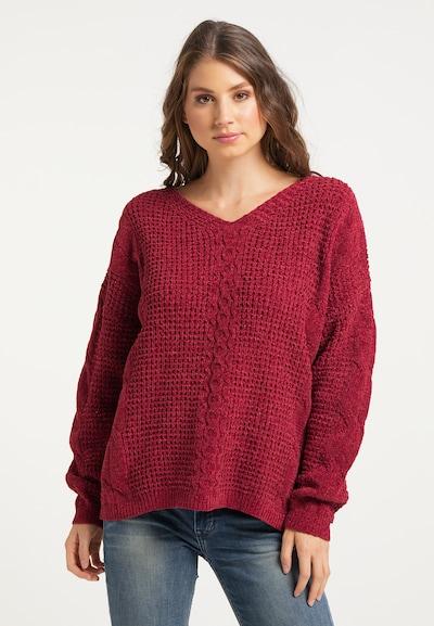 IZIA Pullover in weinrot, Modelansicht