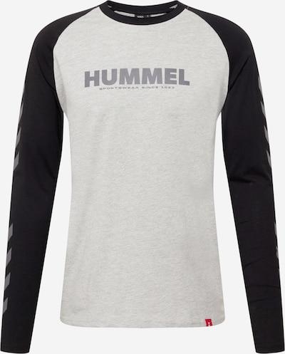 Hummel Sportshirt in hellgrau / dunkelgrau / schwarz, Produktansicht
