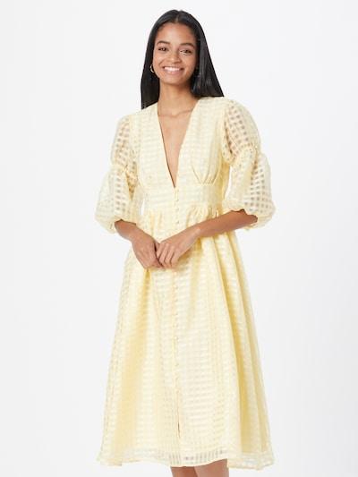 Gina Tricot Košeľové šaty 'Simone' - svetložltá, Model/-ka