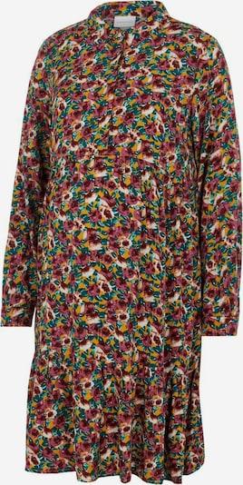 MAMALICIOUS Kleid 'Mlree' in safran / smaragd / pastellrot / weiß, Produktansicht