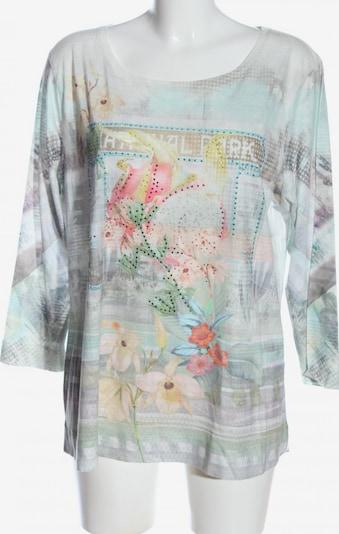 Lecomte Langarm-Bluse in XXXL in blau / pastellgelb / weiß, Produktansicht