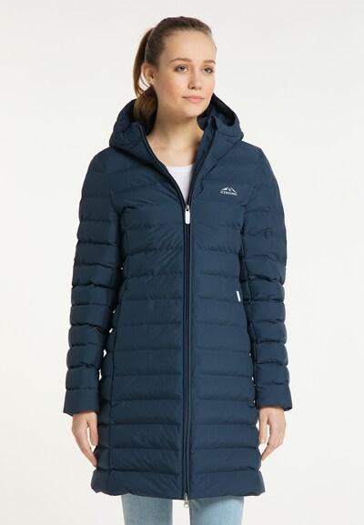 ICEBOUND Manteau fonctionnel en bleu foncé / blanc, Vue avec modèle