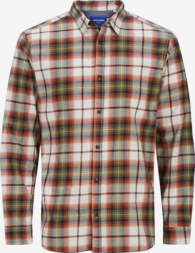 Jack & Jones Plus Hemd 'Globe' in navy / oliv / hummer / weiß, Produktansicht
