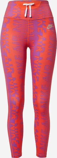 NIKE Pantalon de sport 'Epic Fast' en violet / orange, Vue avec produit