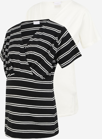 Mamalicious Curve T-shirt 'Sia' en noir / blanc, Vue avec produit