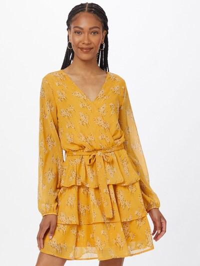 SISTERS POINT Kleid 'NAPPA' in braun / dunkelgelb / weiß, Modelansicht