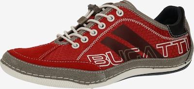 bugatti Chaussure de sport à lacets 'Canario' en bleu fumé / rouge rubis / noir / blanc, Vue avec produit