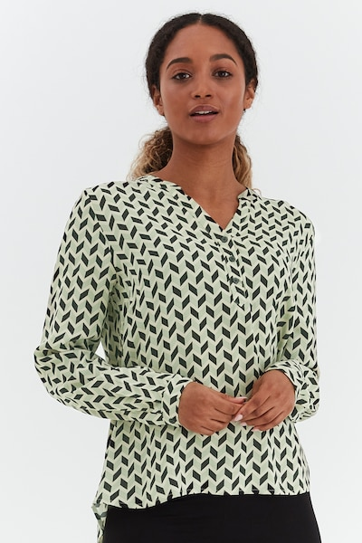 b.young Langarmbluse in grün, Modelansicht