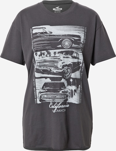 HOLLISTER Shirt in Black / White, Item view