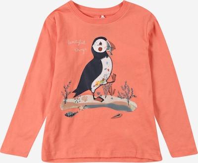 NAME IT T-Shirt 'OSSA' en bleu nuit / gris clair / orange, Vue avec produit
