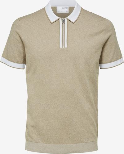 SELECTED HOMME Shirt 'Kopen' in de kleur Lichtbruin / Wit, Productweergave