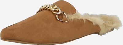 Saboți 'FORESEEN' STEVE MADDEN pe maro coniac / alb lână, Vizualizare produs