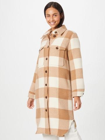 BOSS Casual Between-Seasons Coat 'Cenima' in Brown