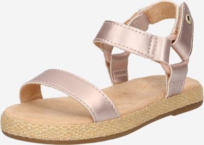 Sandale UGG pe auriu - roz, Vizualizare produs