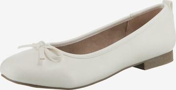 JANE KLAIN Ballet Flats in White