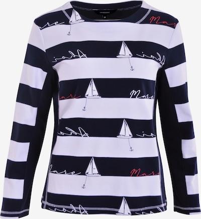 Navigazione Sweatshirt in navy / blutrot / weiß, Produktansicht
