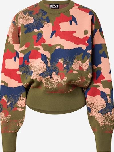 DIESEL Sweater in Navy / Khaki / Pink / Grenadine, Item view