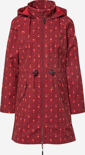 Blutsgeschwister Between-Seasons Parka 'Swallowtail Promenade' in Red / Light red / White, Item view