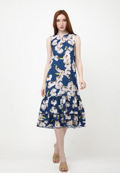 Madam-T Sommerkleid 'GAISA' in braun, Modelansicht