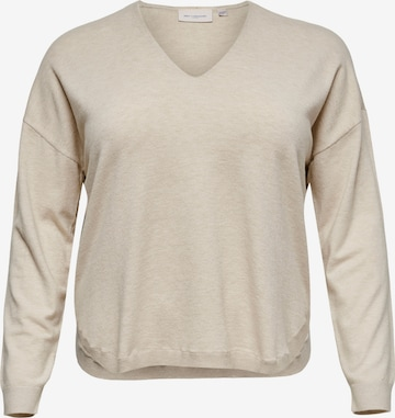 Pull-over 'Cosi' ONLY Carmakoma en beige