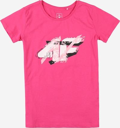 Tricou funcțional 4F pe roz neon / negru / alb, Vizualizare produs