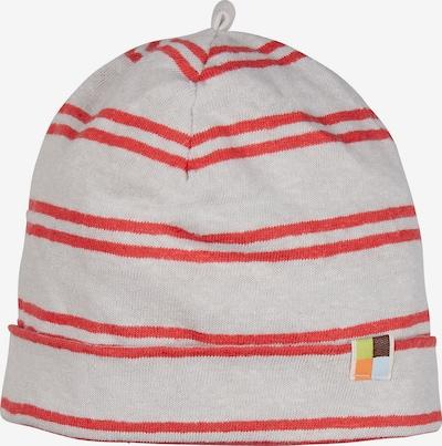 loud + proud Mütze in grau / rot, Produktansicht