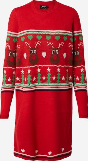 Rochie tricotat 'XMAS VIBE' ONLY pe culori mixte / roșu, Vizualizare produs