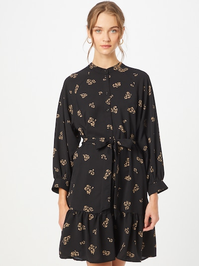 Rochie tip bluză 'Margunn' SELECTED FEMME pe maro / negru, Vizualizare model