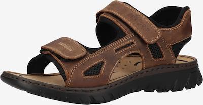 RIEKER Sandales de randonnée en marron, Vue avec produit