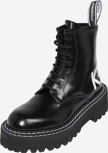 Karl Lagerfeld Stiefel 'PATROL II' in schwarz / weiß, Produktansicht