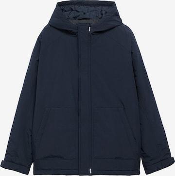MANGO TEEN Prechodná bunda 'Tom' - Modrá