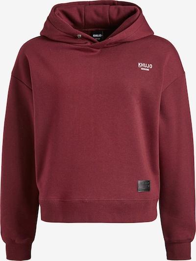 khujo Sweatshirt 'Camina' in de kleur Wijnrood, Productweergave