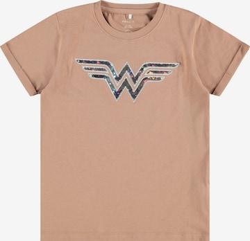 NAME IT Tričko 'Wonder Woman' - Hnedá