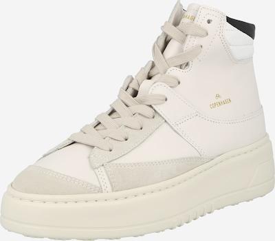 Sneaker înalt Copenhagen pe bej / alb kitt / auriu / negru / alb, Vizualizare produs