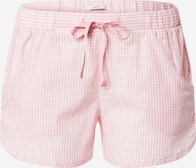 ESPRIT Pidžamas bikses 'CANDITA' gaiši rozā / balts, Preces skats
