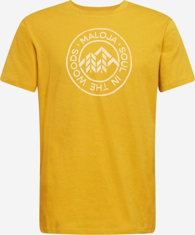 Maloja Functioneel shirt 'Rotbirne' in de kleur Geel / Wit, Productweergave