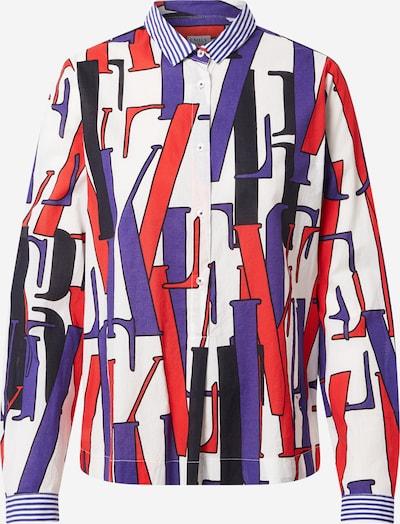 Emily Van Den Bergh Блуза в тъмносиньо / червено / бяло, Преглед на продукта