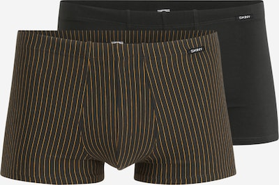 Skiny Boxershorts in orange / schwarz, Produktansicht