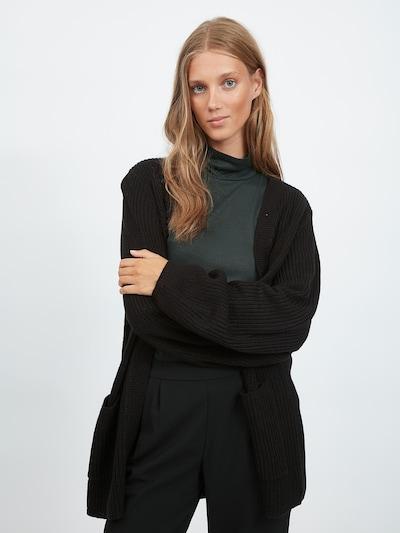 VILA Cardigan en noir, Vue avec modèle